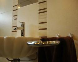 Waschbecken in Muschelform
