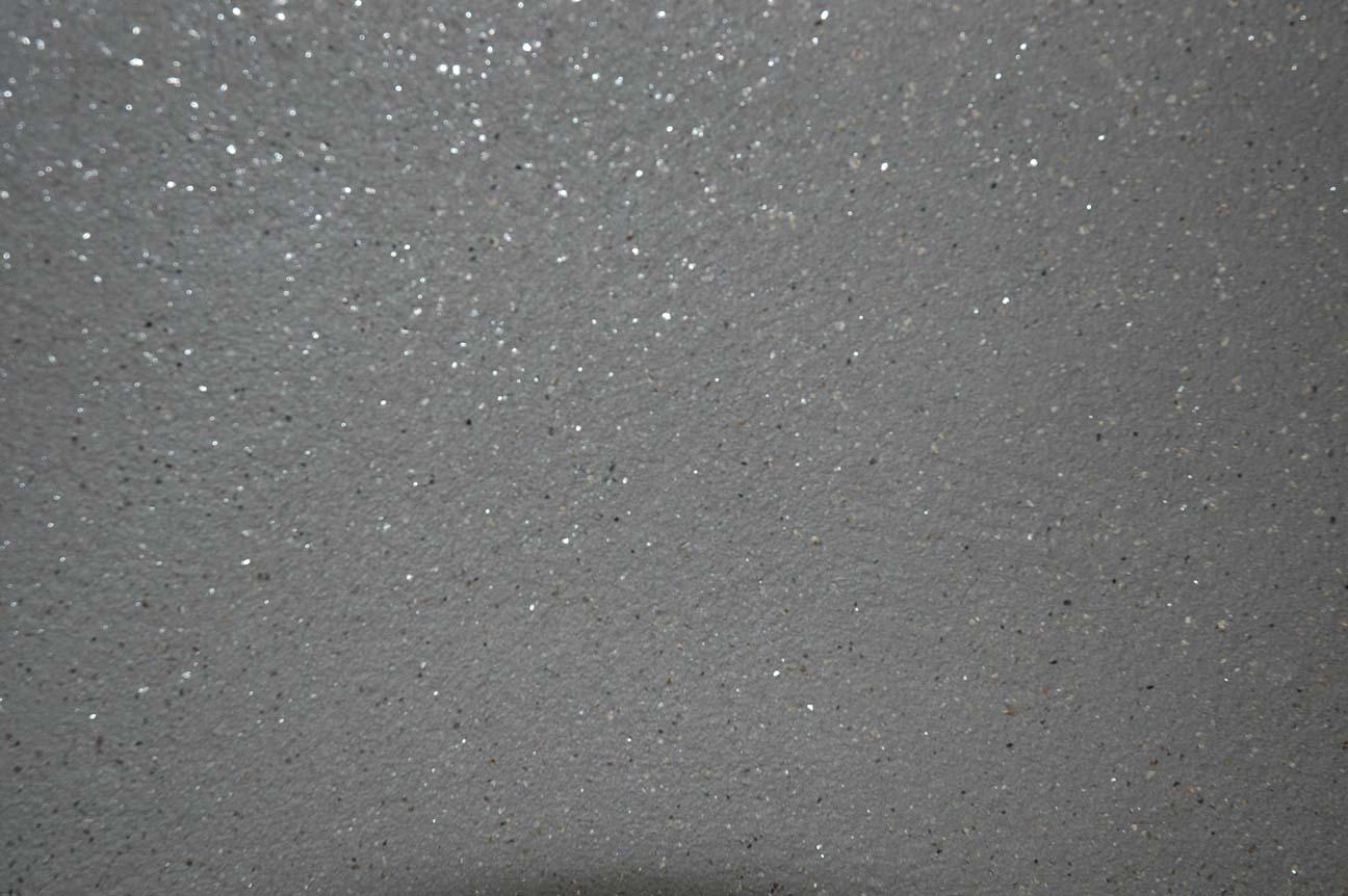 Lehmedelputz mit Glimmer eingstreut, Farbe: Edelweiß